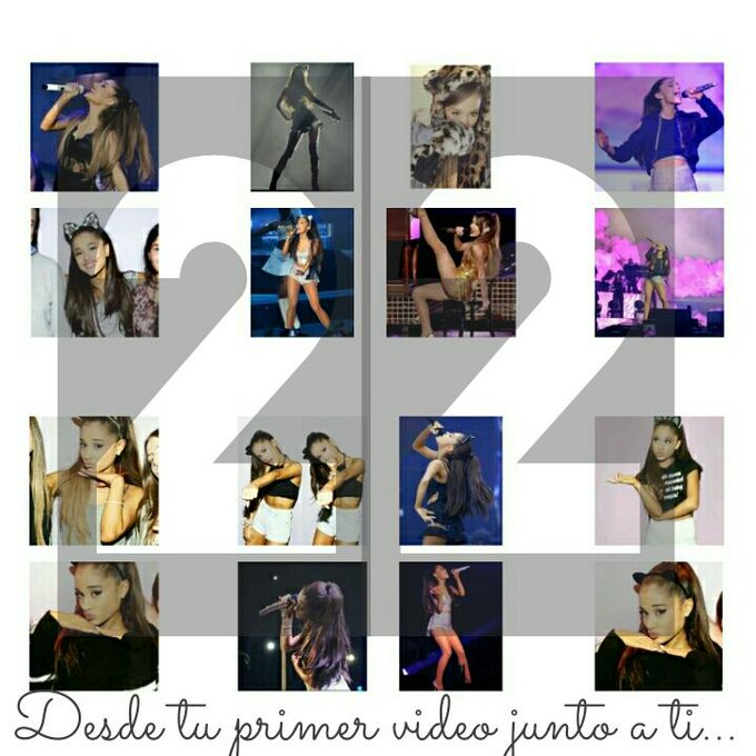From your first video as a singer next to you, happy birthday Ariana Grande