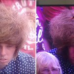 Theres a chap in the crowd at Wimbledon with a rather odd hair-do http://t.co/VdX0vwL6PY http://t.co/S9KSvyEqcK