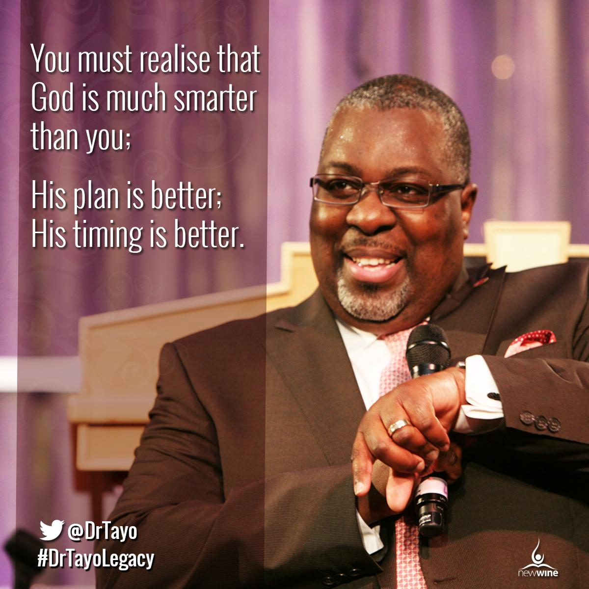 You must realise that God is much smarter than you; His plan is better;  His timing is better. http://t.co/3LtJuMAwnK