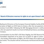 #EFSF decides not to trigger cross-default after #Greece non-payment to #IMF. But reserves right to call loan later http://t.co/uaercmGRxK