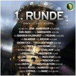 Die Ansetzungen der 1. Runde im @DFB_Pokal stehen fest: Das sind die Partien am Sonntag. #dfbpokal http://t.co/baAs8EjMmJ