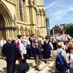 Glorious day here in @CityofYork for the Consecration of Alison White, new Bishop of Hull @yorkpress @hulldailymail http://t.co/46C15Yq4FJ