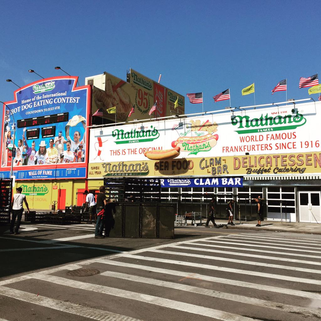 1 more day until the #Nathans Hot Dog Eating Contest! We're getting ready. Are you ready? #ConeyIslandFun #HotDogs http://t.co/5jMMAzP7CW