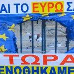 Dieses Plakat spiegelt nicht die Meinung aller Griechen wieder! Am Sonntag Befreiung aus #Europa @Bild #Griechenland http://t.co/9c6rgk6dbb