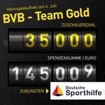 Morgen, 14:30 Uhr, BVB gegen Team http://t.co/RHtnNwaHXR vor Ort in der BVB-FanWelt. Erlös zugunsten @sporthilfe http://t.co/DWW9uosKO6
