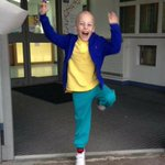 """""""Pure joy on camera. My 7 year old son Charlie Crampton leaving hospital after his last ever chemo for brain cancer"""" http://t.co/IQeAuv2bqV"""