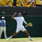 Aussie @NickKyrgios is into the 4R at #Wimbledon after sending 34 aces & 61 winners past Milos Raonic in a 4-set win http://t.co/fGu8htHxky