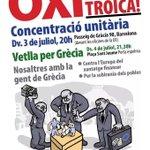 La solidaritat és la tendresa dels pobles (i dels pobres). Avui, amb el poble grec! Barcelona, 20h. #OXI #NoalaTroika http://t.co/C3AXsD861q