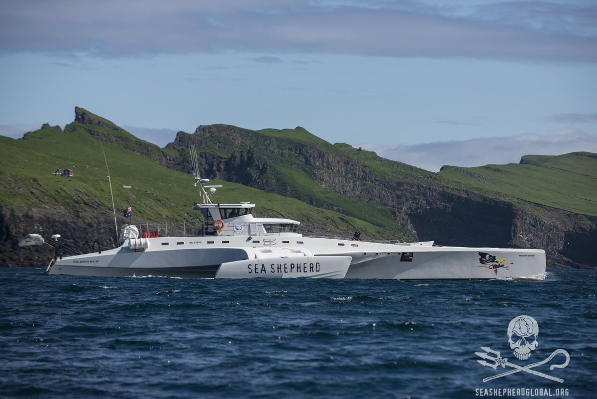 RT @seashepherd: The Brigitte Bardot maintains watch over the pilot whales of the Faroe Islands during #OpGrindini #SeaShepherd http://t.co…