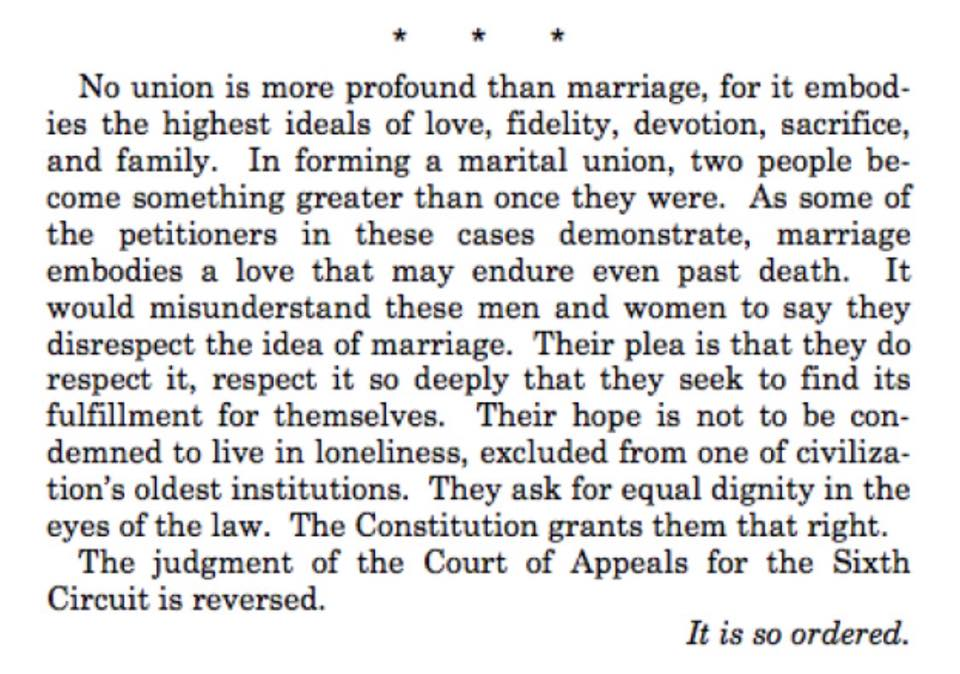 "RT @NOH8Campaign: ""It is so ordered."" This excerpt from Justice Kennedy's #marriageequality ruling will make you proud! #LoveWins #NOH8 http://t.co/9YtktNtzbD"