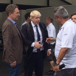 RT @MahindraRacing: The Mayor is in the house. Welcome to the #LondonePrix @MayorofLondon http://t.co/GLtLFeBfU7
