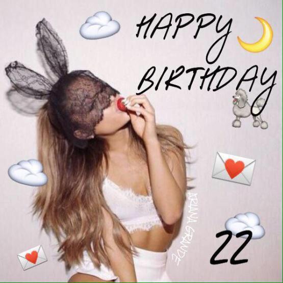 Happy Birthday to Ariana Grande I love u so much