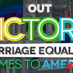 BREAKING: It's official! #MarriageEquality comes to America! #LoveWon http://t.co/ZnrM5lmVM8 /via @outmagazine