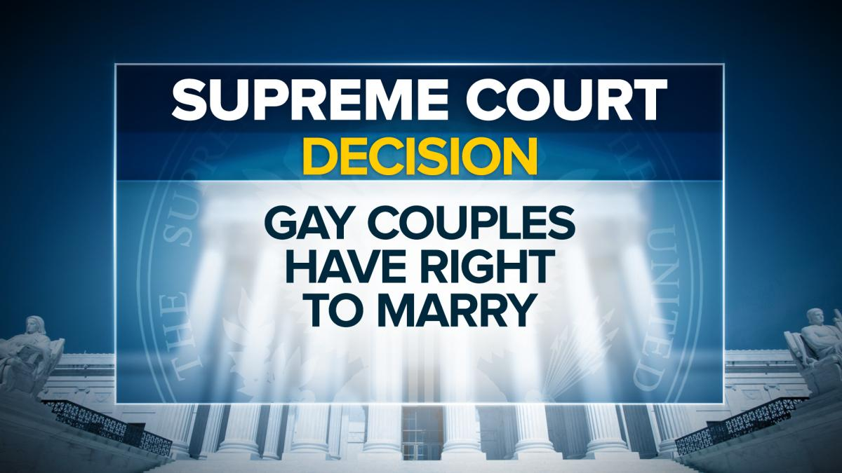 BREAKING: Supreme Court rules same-sex couples nationwide have the right to marry