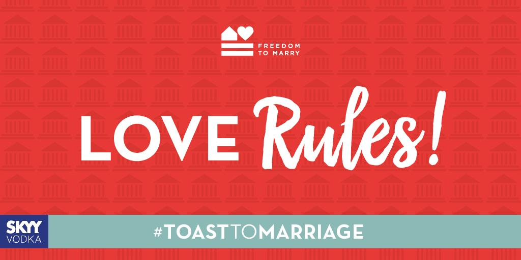 Marriage equality is the law of the land! Share to toast the #SCOTUS ruling! #ToastToMarriage #LGBTQ http://t.co/zQEX2HonLX