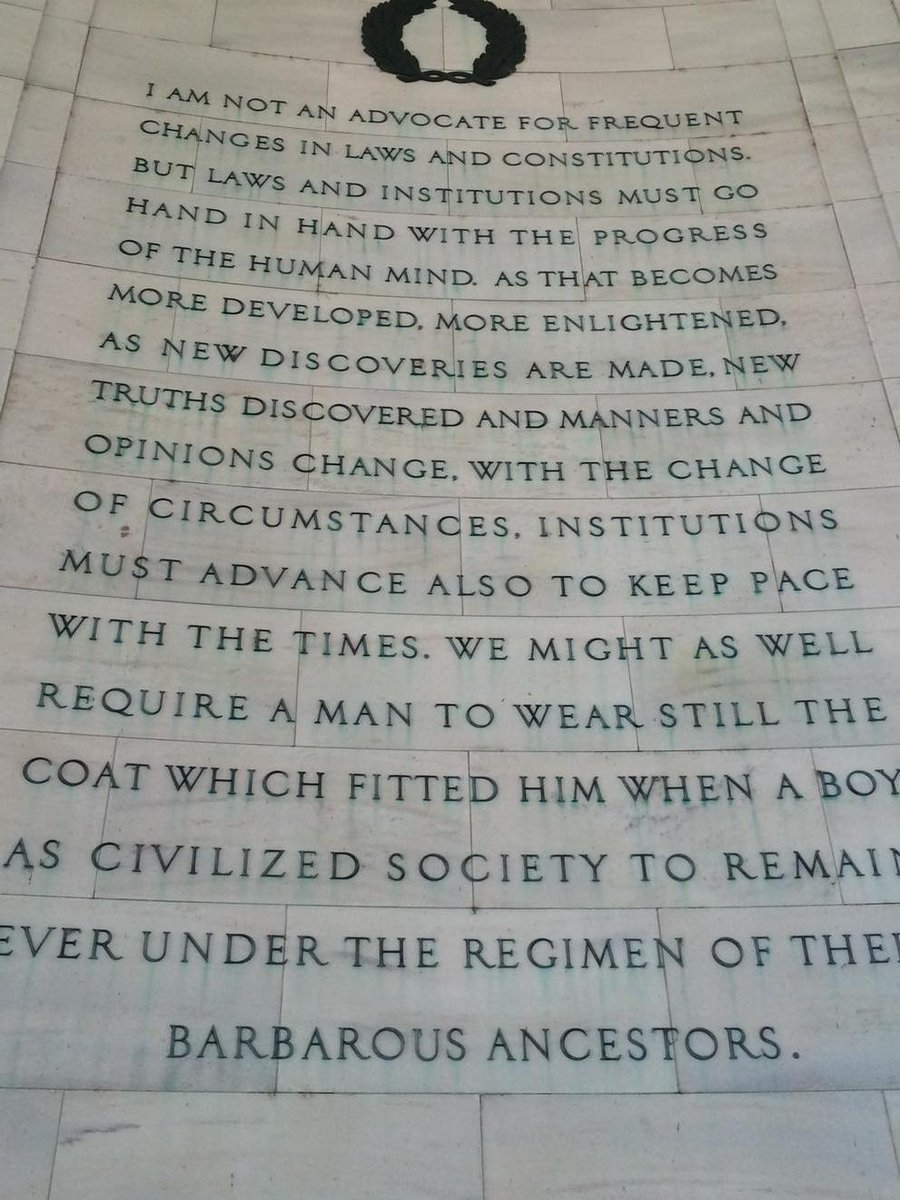 The rationale behind today's #gaymarriage #supremecourt decision ...as advanced by Thomas Jefferson. http://t.co/YPce6gws7C