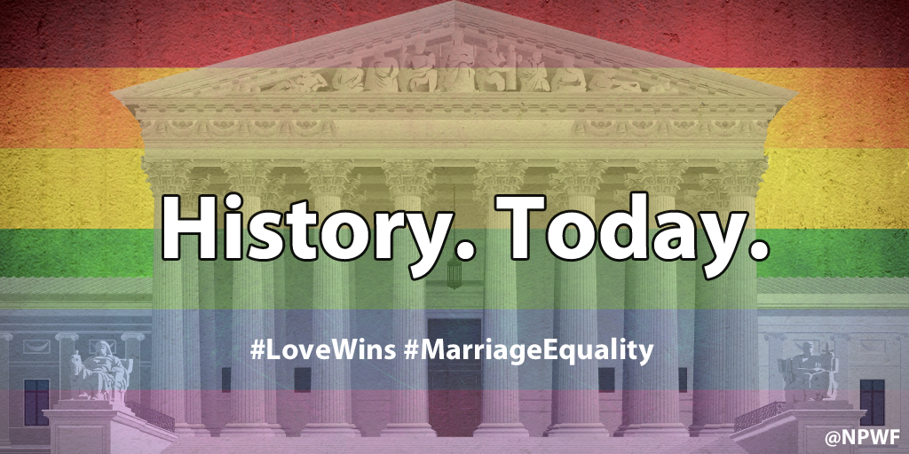 A long overdue victory and important step on the road to equality. #LoveWins #MarriageEquality http://t.co/ixJwePy2Yy http://t.co/4TQxpFwdrT