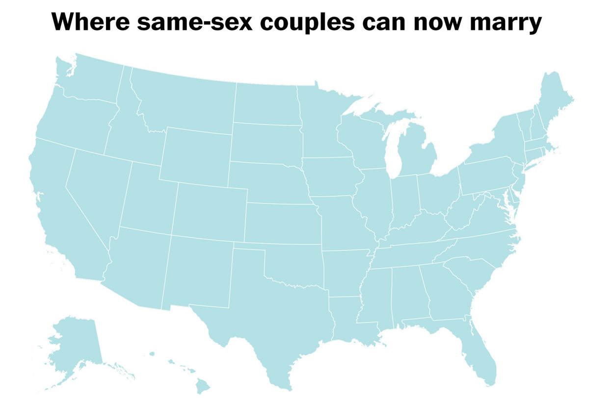 Map: Where gay Americans can now marry http://t.co/SPxAigMO4L