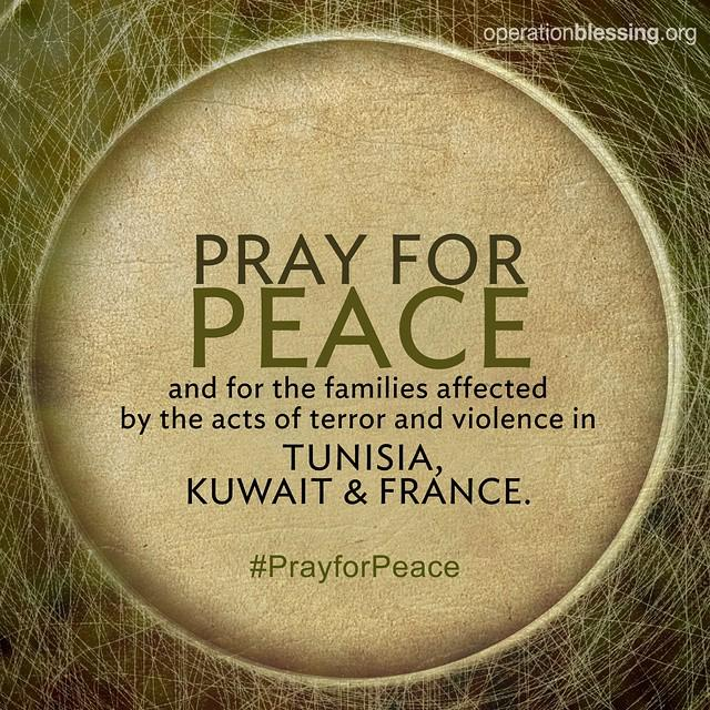 #PrayforPeace and for the families dealing with loss in #Tunisia, #Kuwait and #France toda… http://t.co/kRVNVDRLgp http://t.co/9LlQIuq0NL