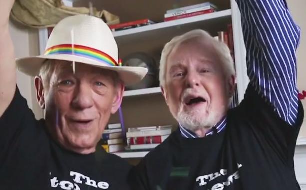 Derek Jacobi and @IanMcKellen celebrated MarriageEquality by blasting Queen: