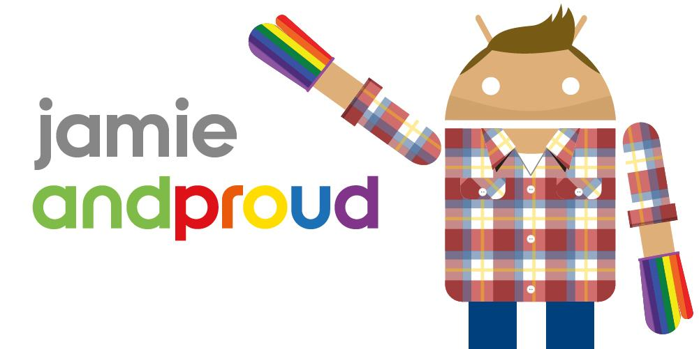 My @Android Jamie is joining the virtual march. Count me in for the #andproud parade! http://t.co/09xQMrfgFu http://t.co/4yL5Pz3jss