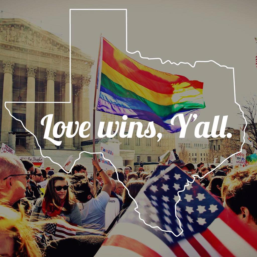 Same-sex marriages in Texas. Wow. Wow. Wow. What a day. #LoveWins http://t.co/YTjvfpRSG1