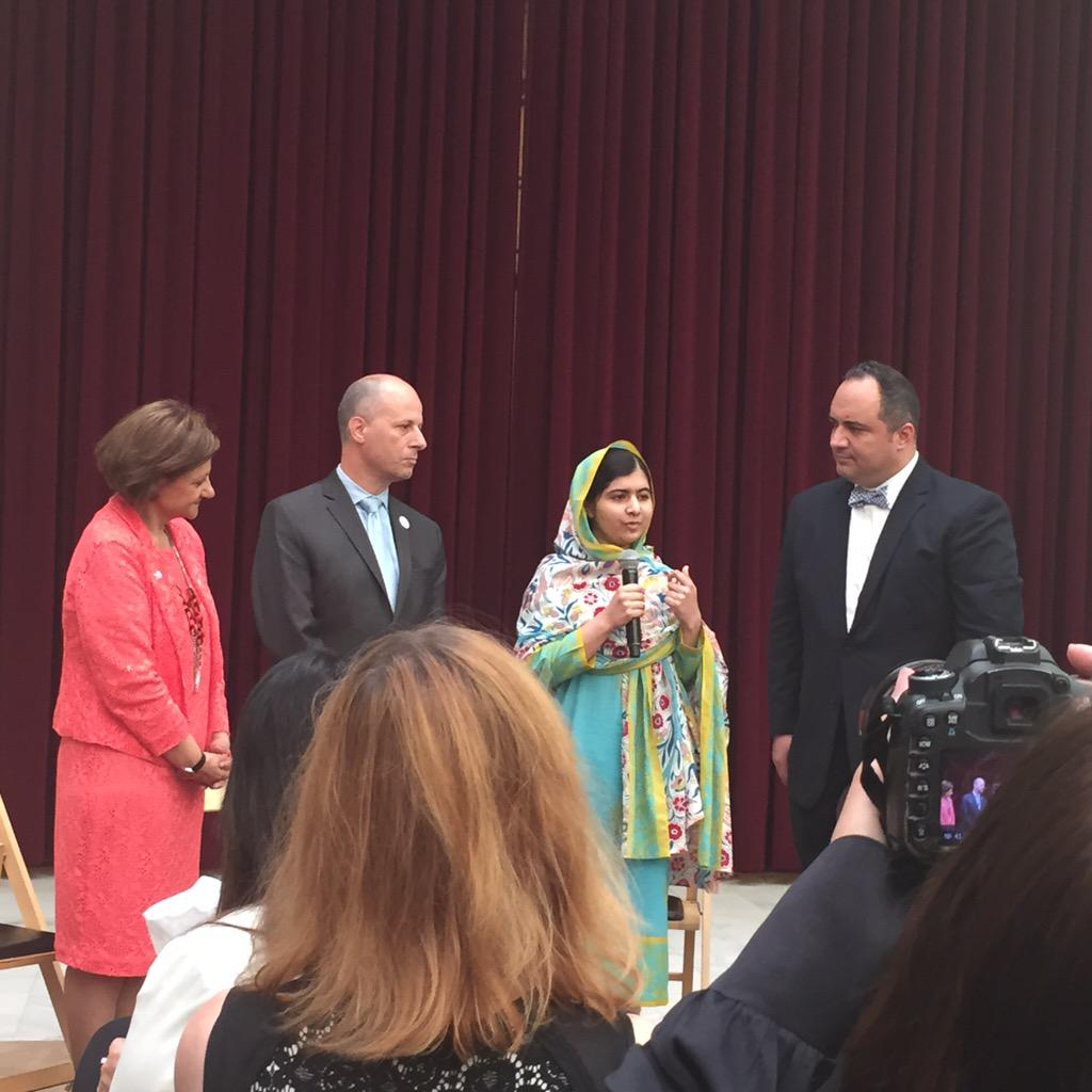 Heard from @Malala - quite an inspirational and powerful story. Worth learning more. cc: @UN @MalalaFund #UN70 http://t.co/hel5CA80gh