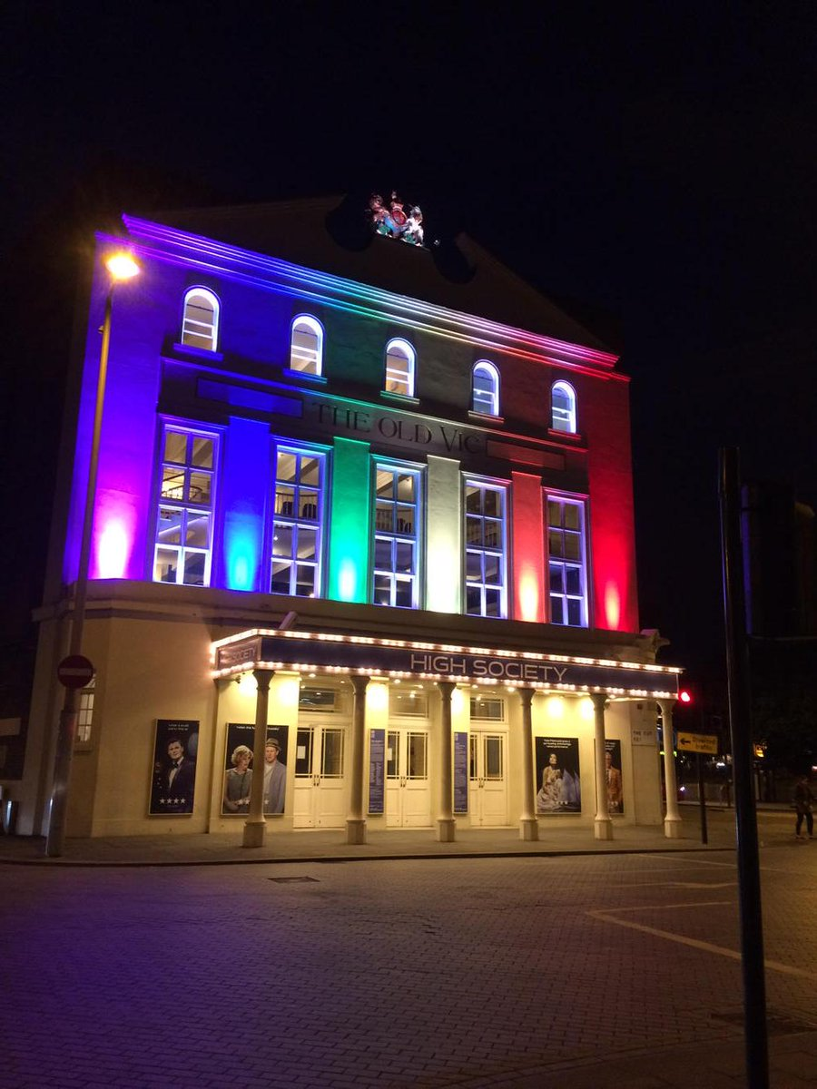 The Old Vic marking #LoveWins http://t.co/1dkiZFWoeN