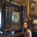 Timely and Timeless! Alia listening to the heartbeat of time at the Falaknuma Palace.