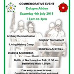 TODAY 11am-4pm: Battle Of Northampton Commemorative Event at Delapre Abbey, Northampton Free entry http://t.co/2fdBbsAi36
