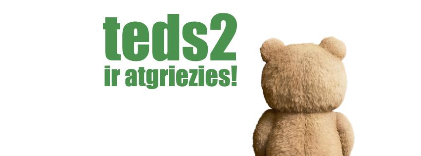 """Kādēļ Tu vēlies redzēt filmu """"Ted 2""""? Atbildi un laimē 2 ielūgumus uz kino un VESELU KASTI @AdazuCipsi! #Konkurss RT http://t.co/qOzZflBRsh"""