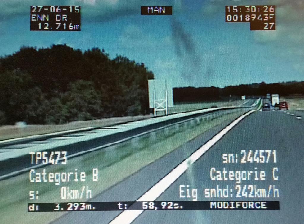 #N33 na afloop #TT maakte Duitse motorrijder ca. 100 meter wheely en reed vervolgens (met piek van 242 km/u) 202 km/u http://t.co/3KWbLbg4rG