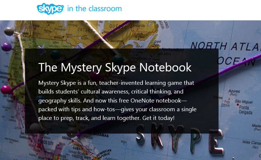 #MysterySkype fans, big news from #ISTE2015: Mystery Skype #OneNote Notebook! Read more: http://t.co/o9hQtEtDlZ http://t.co/m3djJJm4ha