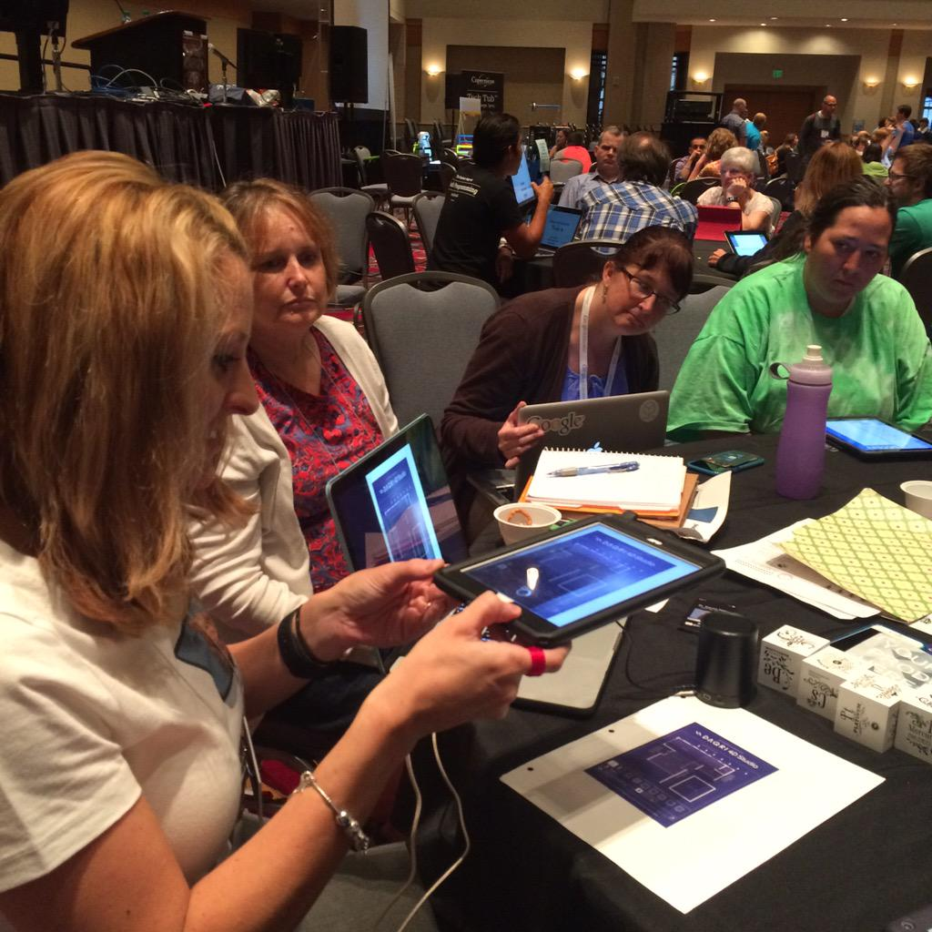 Amazing #AugmentedReality blueprints come to life! @teachintechgal showing it at #ISTE2015 http://t.co/c2qPrNoALg