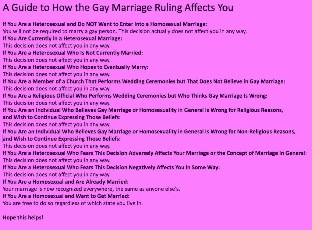 How gay marriage affects you!