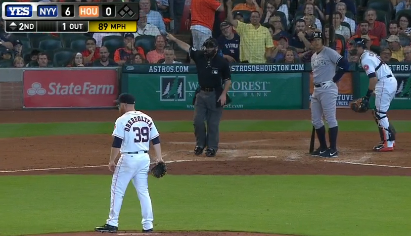 Love A-Rod's reaction whenever he gets thrown at intentionally. http://t.co/qFh5Gn6Mvx