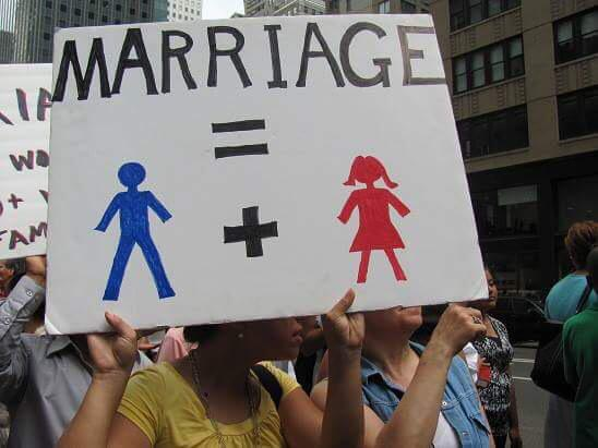 Allah created Adam and Eve not adam and Steve. What goes against nature destroys nature #gaymarriage #LoveWins http://t.co/sZ7DzyUyYM