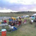 Geology students at #montanastate enjoying camp after a day in the field. http://t.co/fVPfeBJ4IX