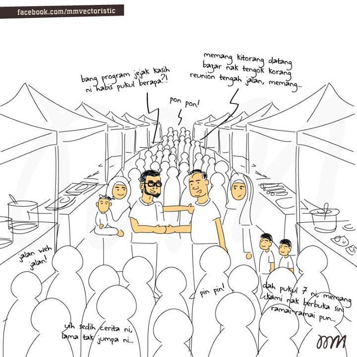 Time sesak-sesak kat bazaar ramadhan lah ada org buat keputusan untuk berhenti berborak. http://t.co/RtEPBGLJQn