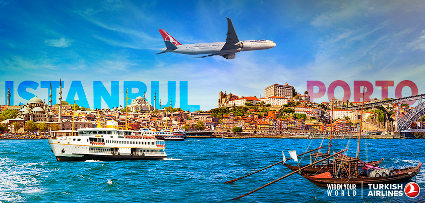 Fly to Porto from Istanbul with Turkish Airlines! Book your tickets now at:
