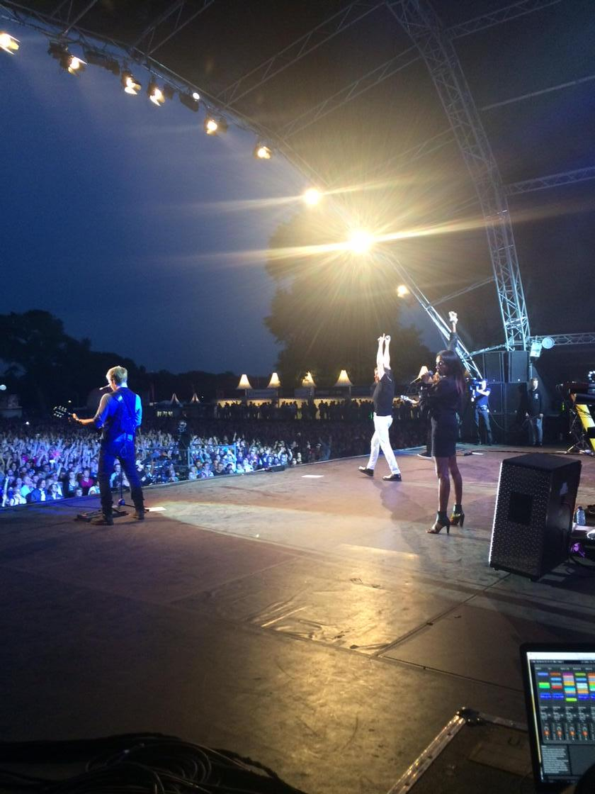 Last nights show with @Duran duran at night at the park in The Hague. Was a great night! http://t.co/wz6RQWcN3o