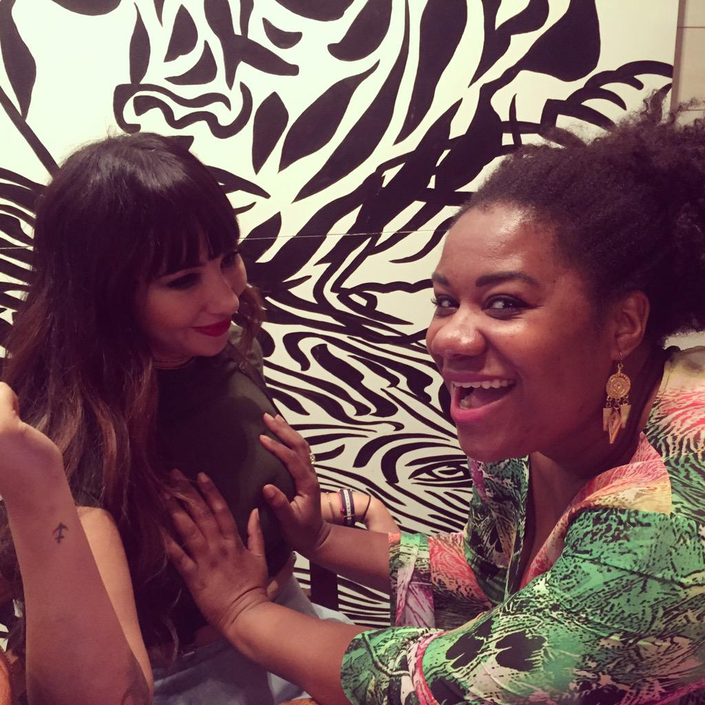 Getting ready for NYC Pride! @amoore9 might be taking this a little too seriously. @MsJackieCruz http://t.co/lYYebSdSyW