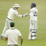 Michael Clarke shows his appreciation to Daniel Bell-Drummond after the Kent batsman made 127 http://t.co/qYnpp3VNVD