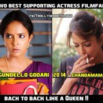 RT @beinganvesh: People who said daughters of Heroes shouldn't act.. That's  @LakshmiManchu for u. Take that!! #Queen @HeroManoj1