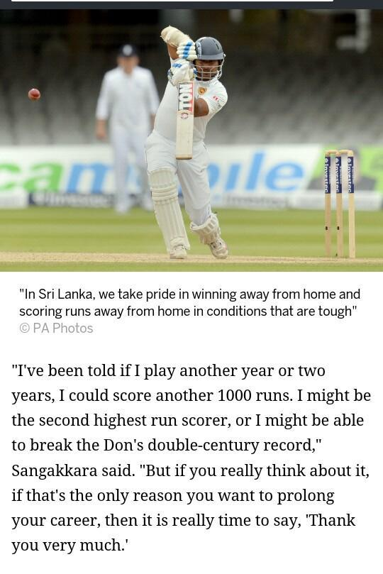 Difference between a true #legend of the game and 'so called legends' who play for records. #Sanga http://t.co/Avl8DnmNCR