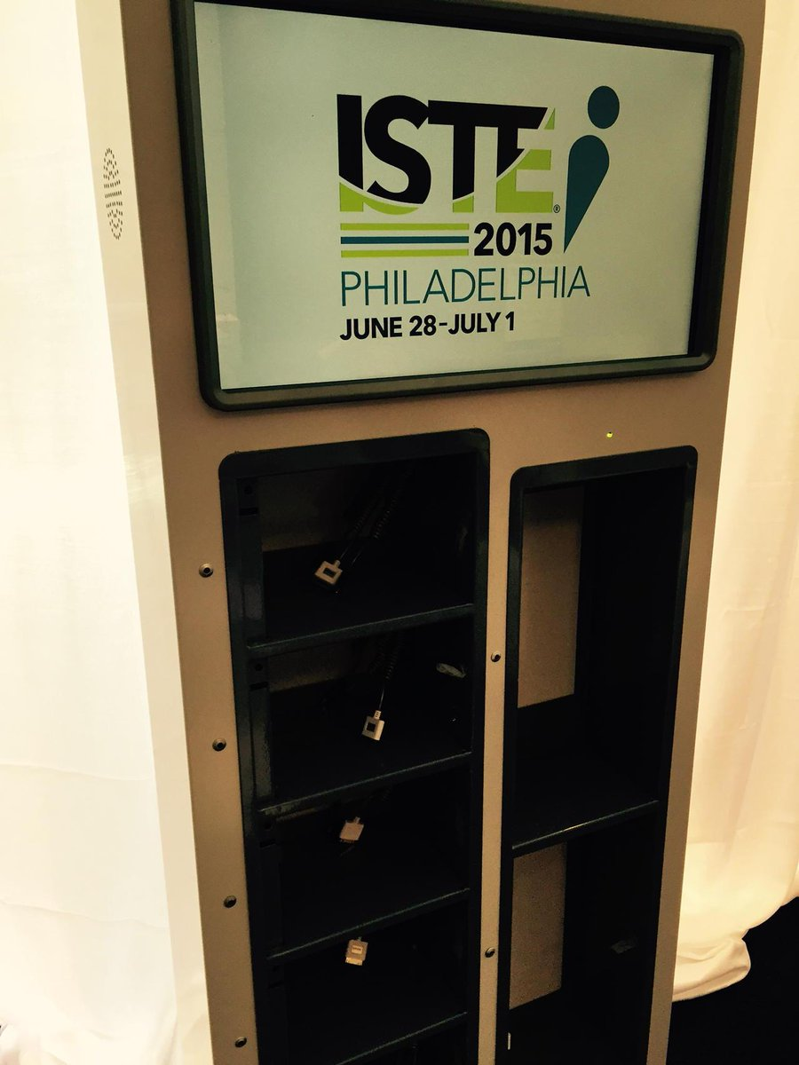 Charging stations have replaced pencil sharpeners #ISTE2015 http://t.co/jnSMx3fqbA