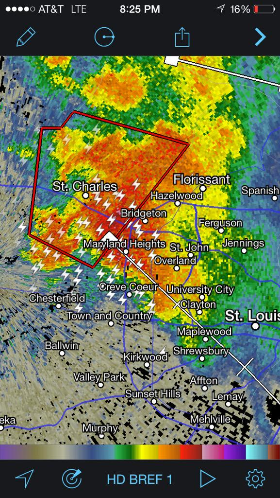 Bree Smith (@BreeSmithWx): Avoid travel along I-70- storm with tornado traveling East at 20 mph http://t.co/quJaAWBWOG