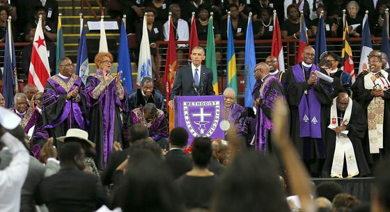 President Barack Obama delivers a touching eulogy for Rev. Clementa Pinckney: