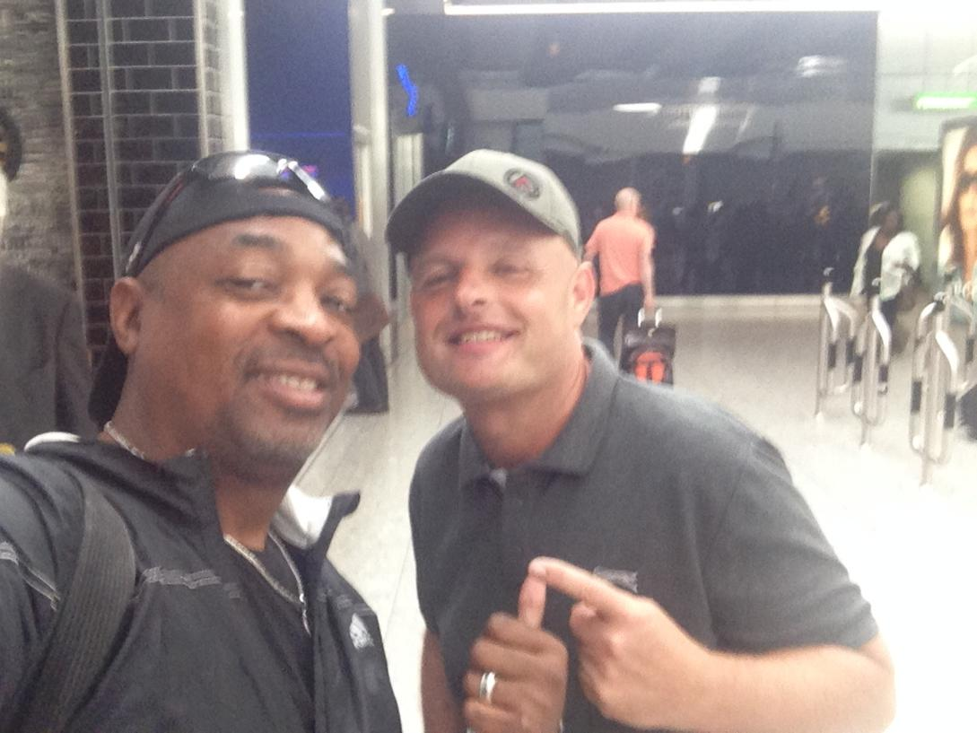 Great to catch a moment this morning with my old buddy @MrChuckD @PublicEnemyFTP looking fwd to new album #legend http://t.co/GyQOrniDOe