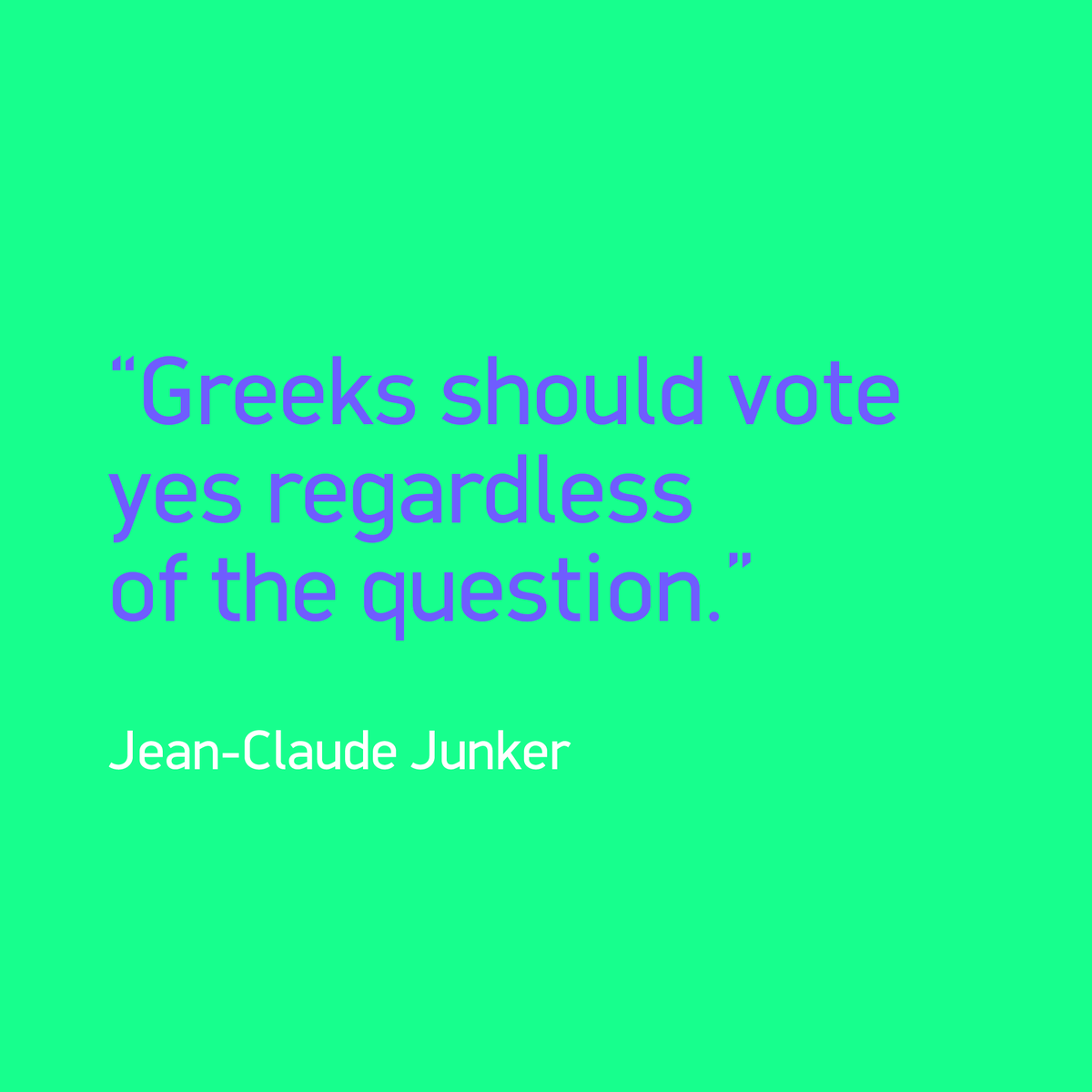Yes master Juncker #referendum #interference #yesmaster #grexit #blackmail http://t.co/kQuO7rLoPc